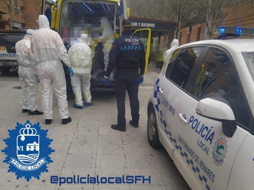 Rescatado en San Fernando de Henares un hombre muy enfermo con síntomas de coronavirus