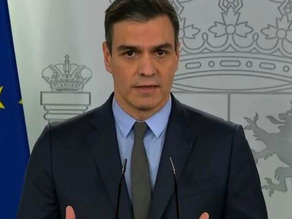 Sánchez anuncia la paralización de actividades no esenciales desde el lunes por el coronavirus