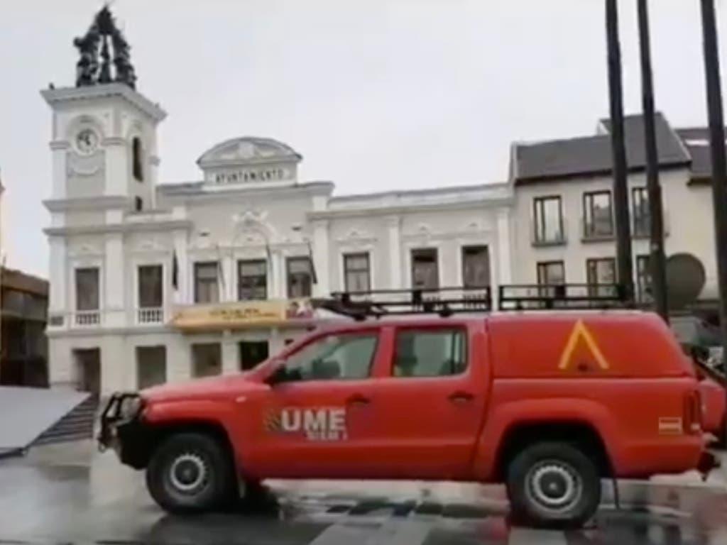 La Unidad Militar de Emergencias llega a Guadalajara