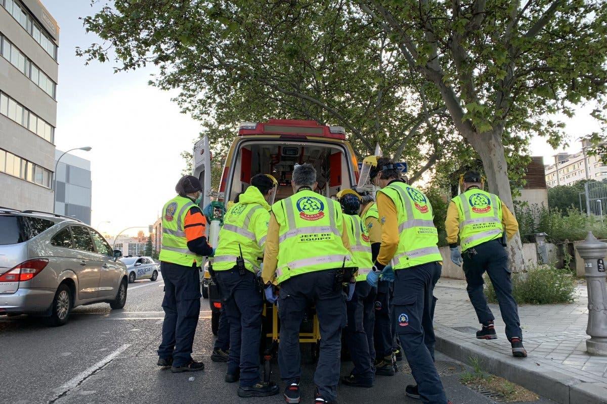 Un motorista muerto y otro muy grave en dos accidentes en Madrid