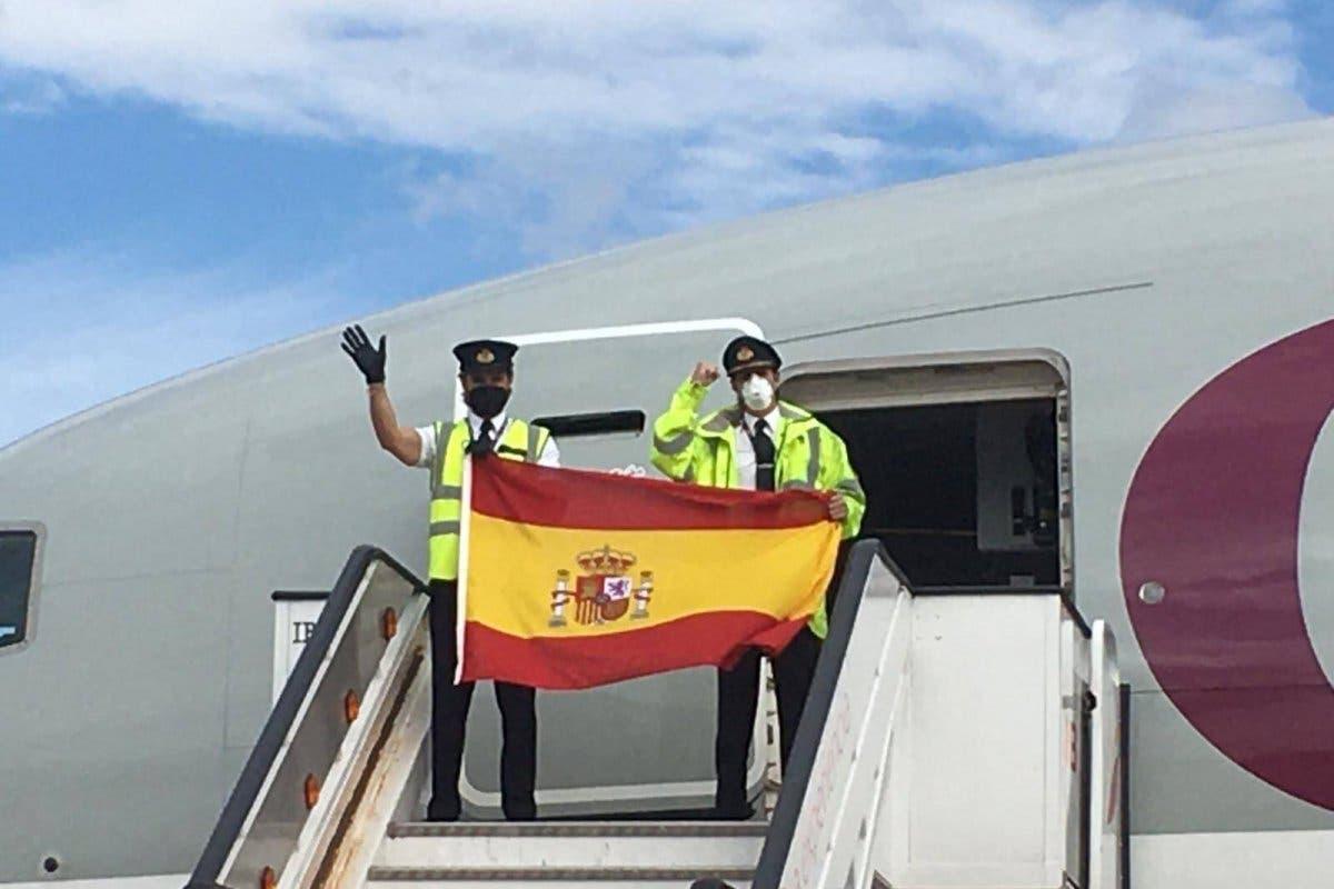 Aterriza en Madrid el segundo avión de Ayuso con 82 toneladas de material sanitario