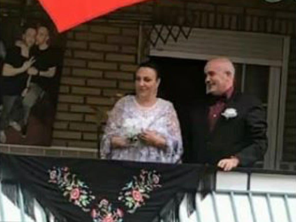 Una boda de aniversario en los balcones de San Fernando de Henares