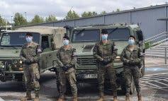 Miembros de la Brigada Paracaidista desplegados este domingo en Villalbilla y Chiloeches