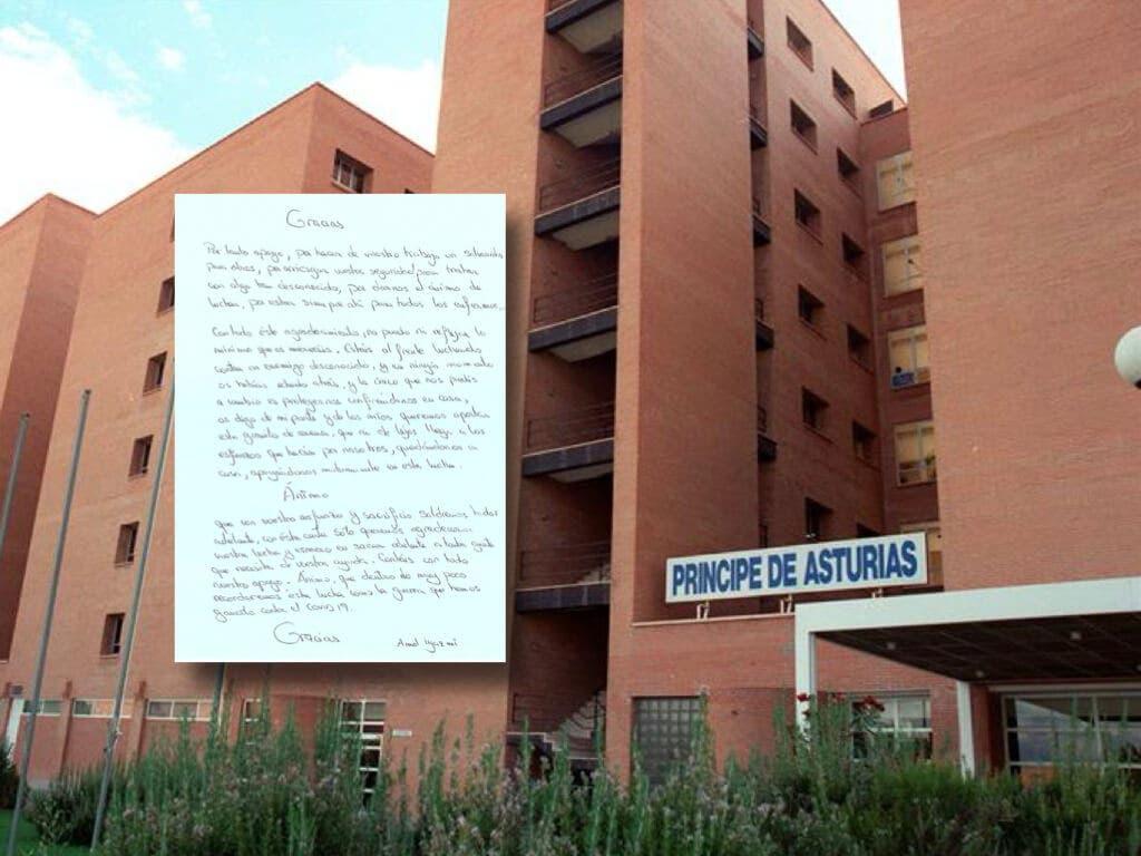 La emotiva carta de una paciente del hospital de Alcalá de Henares