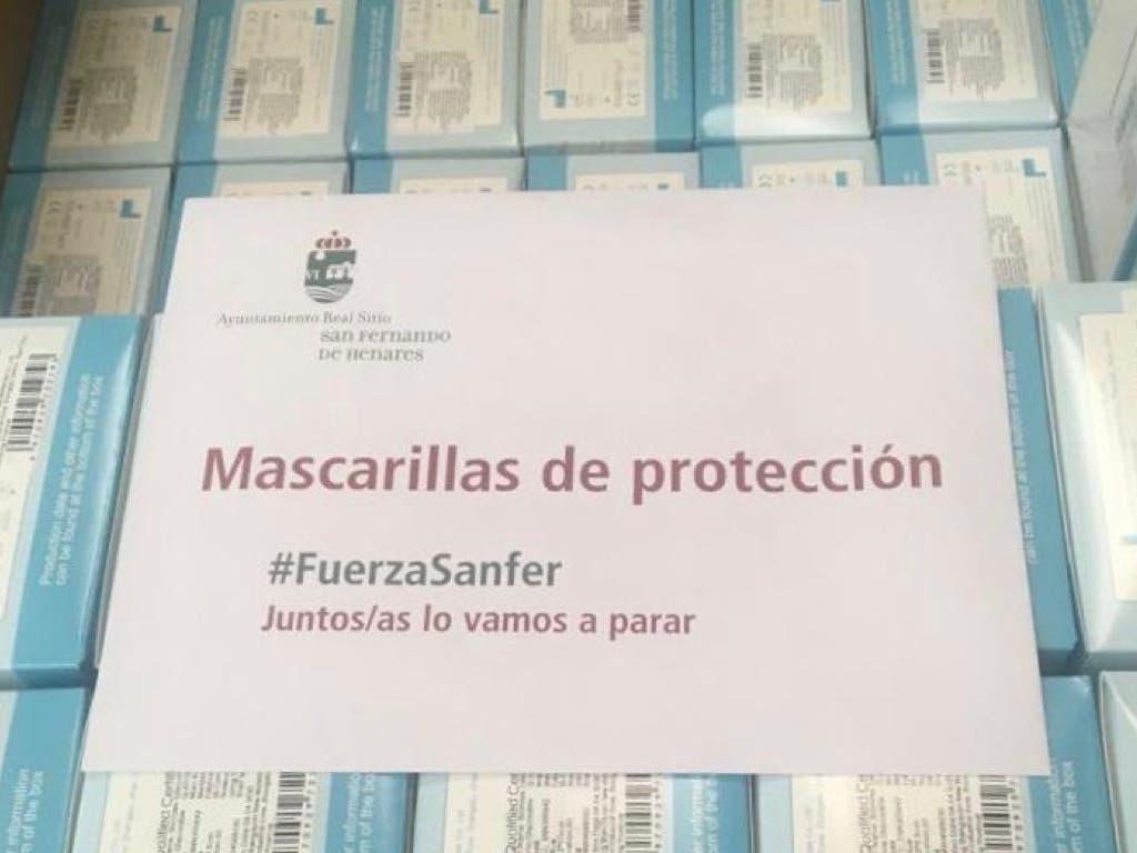 San Fernando de Henares iniciará este sábado el reparto de mascarillas entre sus vecinos