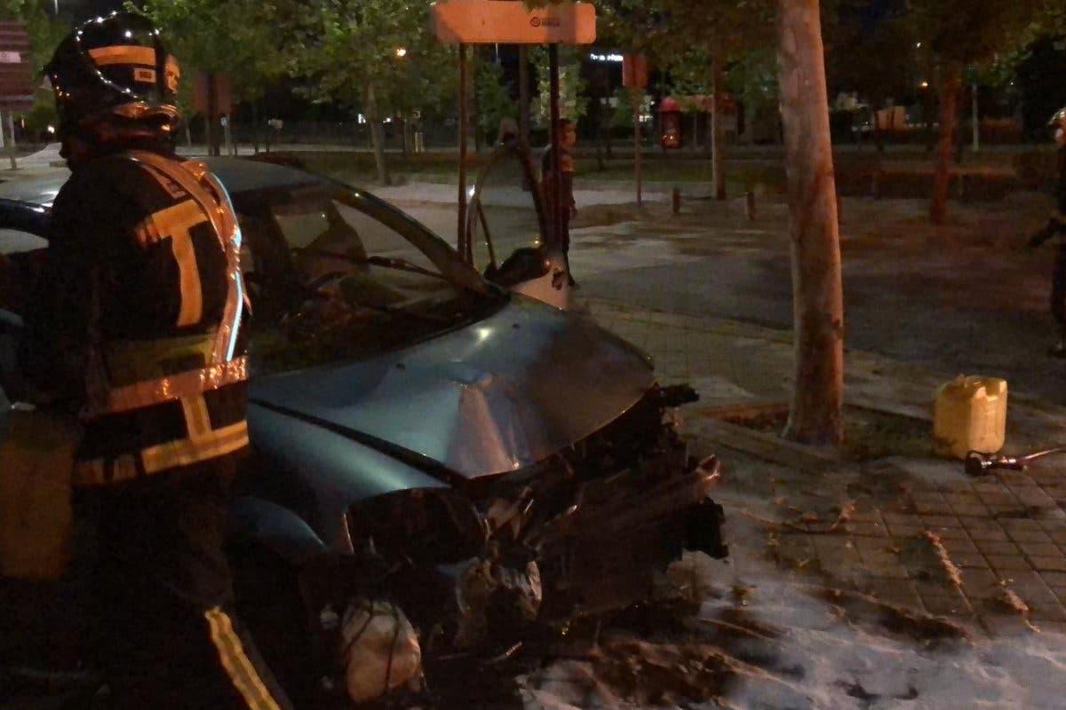Se salta el confinamiento para viajar a Madrid y acaba multado y herido leve