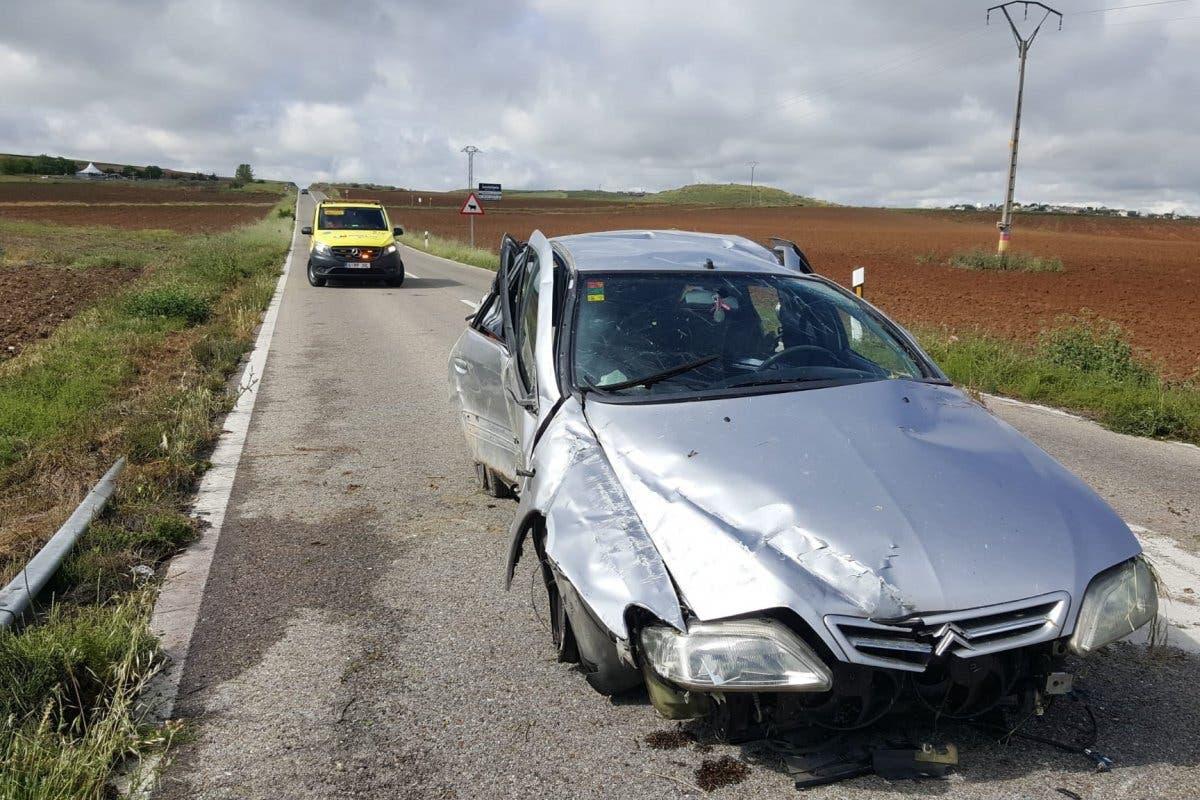 Herida una joven en Algete tras dar varias vueltas de campana con el coche