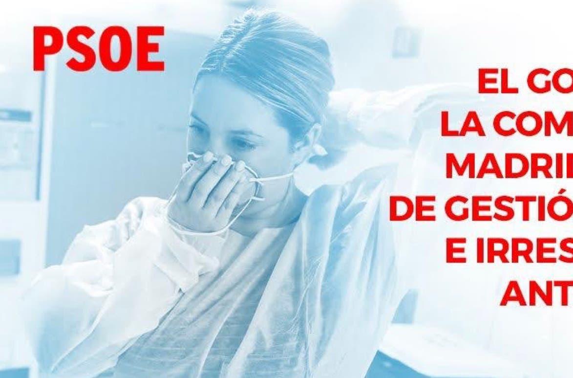 Aluvión de críticas al PSOE por su campaña contra Madrid