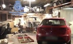 Desmantelan en Alcalá de Henares un taller clandestino dedicado al despiece de coches robados