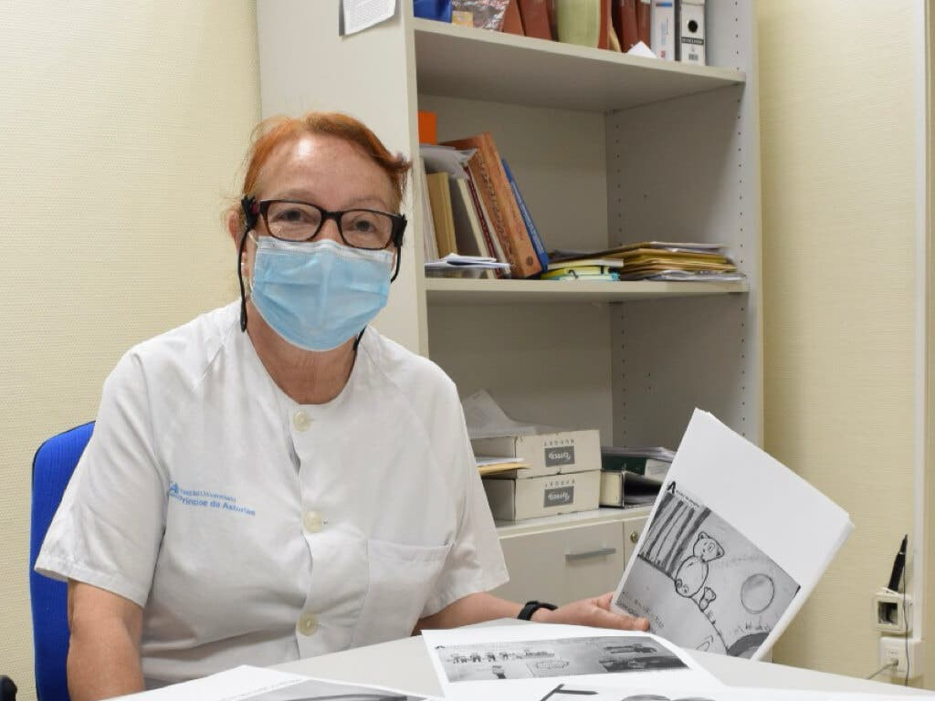 Mari Ángeles, la paje del hospital de Alcalá de Henares