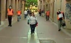 El paseo reivindicativo de los discapacitados despedidos en Alcalá de Henares