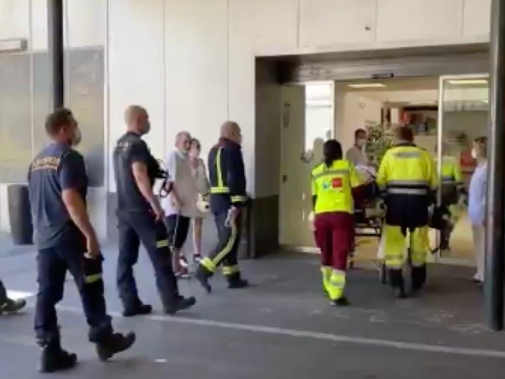 Complicado rescate en Madrid tras quedar atrapado entre las cuchillas de una máquina agrícola