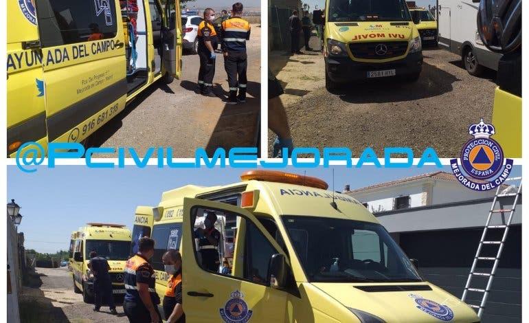 Herido un hombre en Mejorada del Campo tras sufrir un accidente laboral