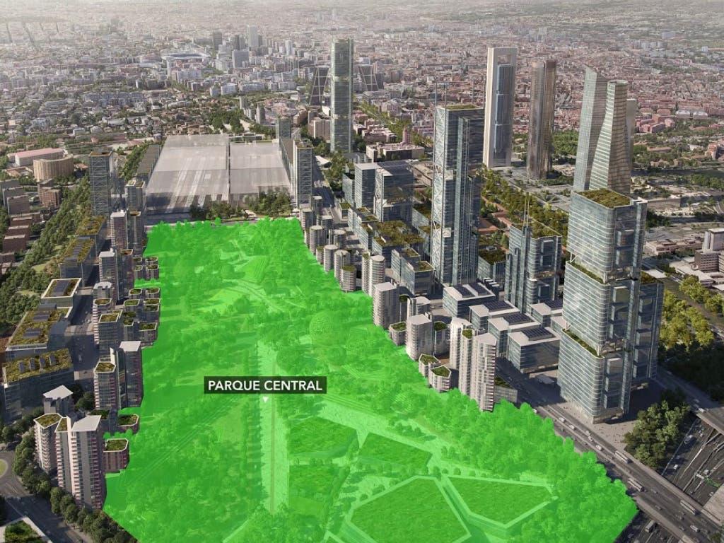 Las obras del gran Parque Central de Madrid Nuevo Norte arrancarán en 2021