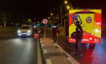 Herido grave un joven de 22 años tras un accidente de moto en Madrid