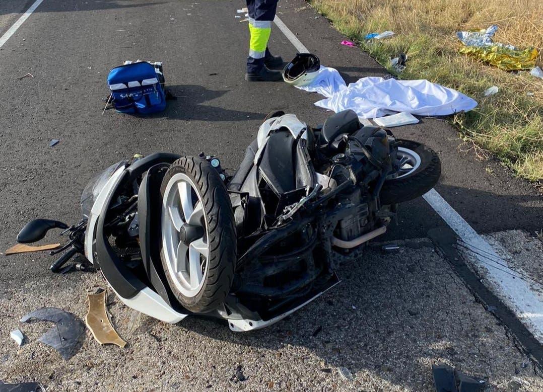 Un ciclista muerto y dos motoristas graves en tres accidentes en Madrid