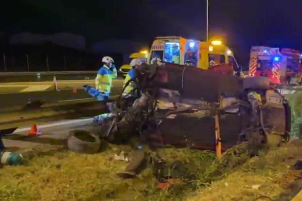 Cinco jóvenes heridos, tres de ellos graves, en un accidente en Fuenlabrada