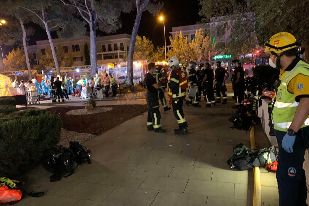 Atendidos 36 ancianos tras un incendio en una residencia de Aravaca