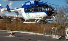 Rescatado en helicóptero en Guadalajara un ciclista que se sentía indispuesto