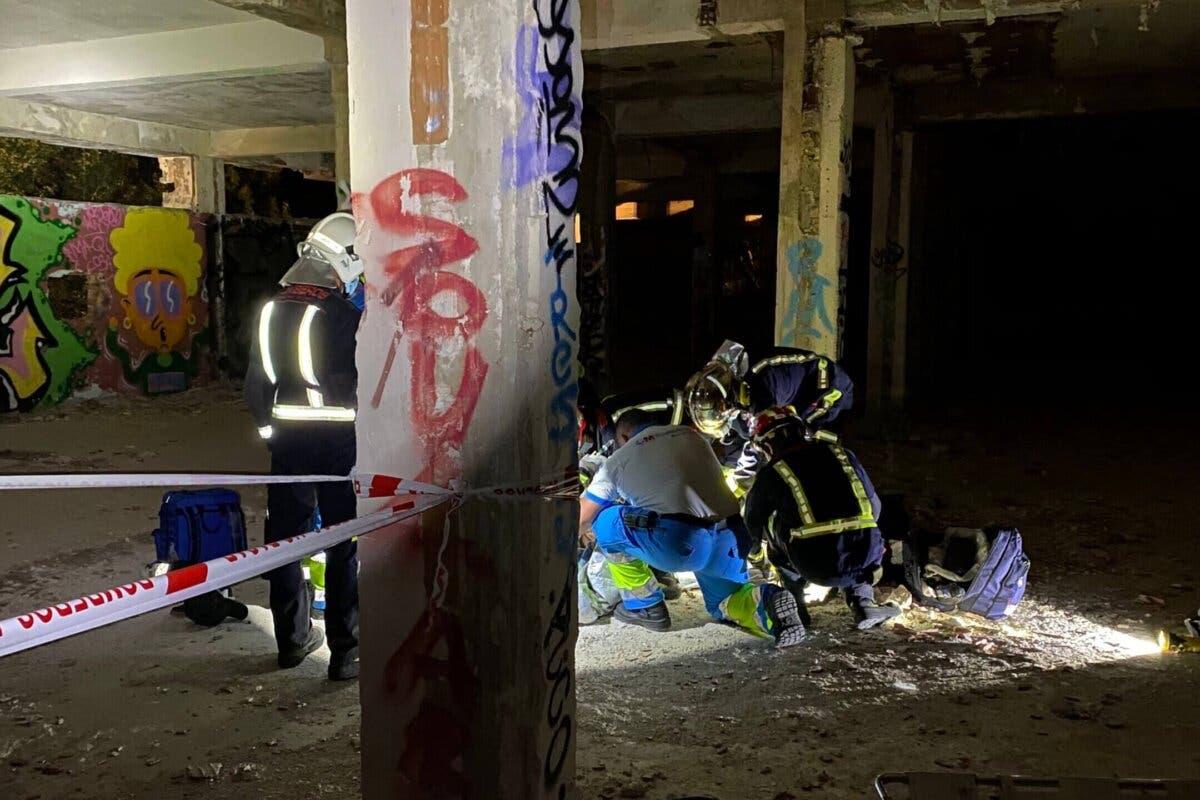 Herido un joven tras caer por un agujero en el antiguo psiquiátrico de Navacerrada
