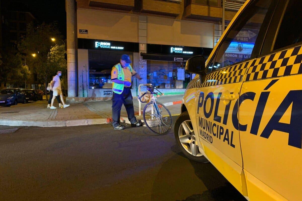 Herido un ciclista al ser atropellado por un coche en Madrid