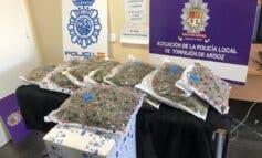 Dos detenidos y 8,6 kilos de marihuana incautados en Torrejón de Ardoz