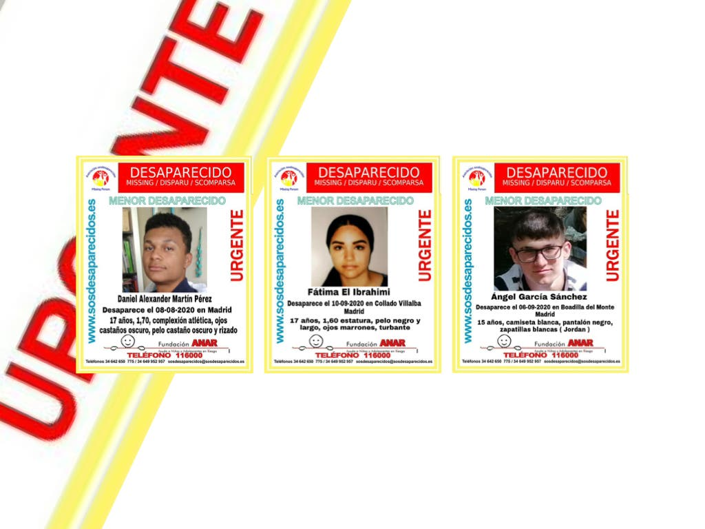 Buscan a tres menores desaparecidos en distintos puntos de Madrid