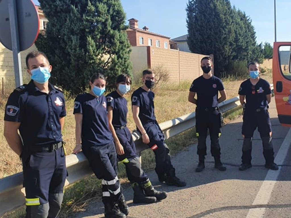 Protección Civil de Villalbilla logra reanimar a un ciclista que había entrado en parada