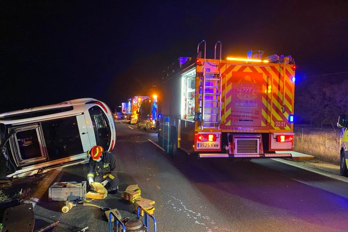 Cuatro heridos, uno crítico, en un accidente en Alcalá de Henares