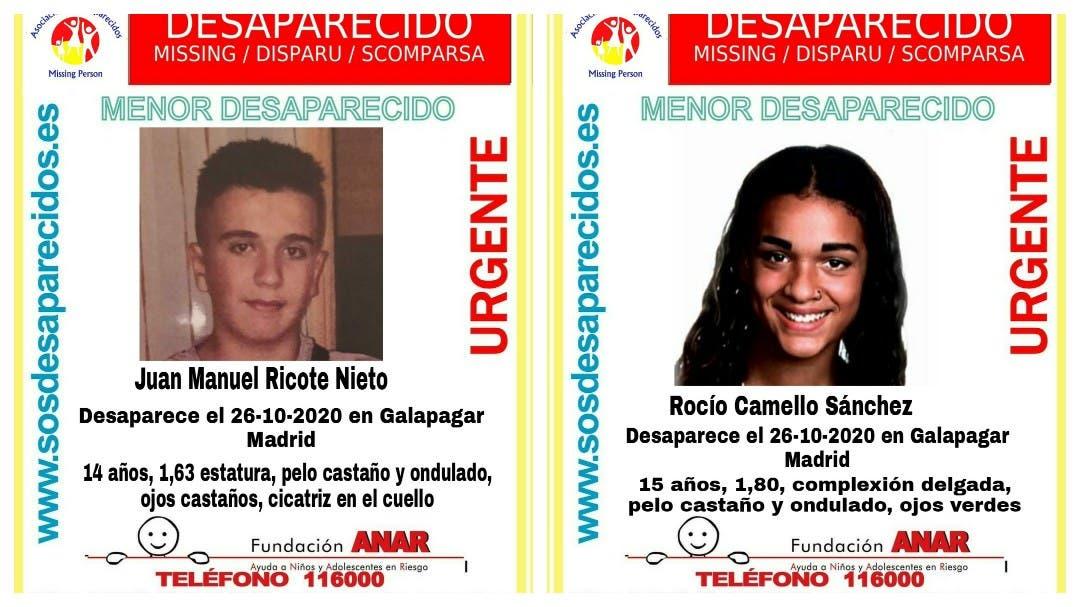 Buscan a dos menores desaparecidos en Madrid el pasado lunes