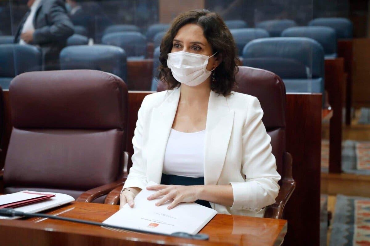 Ayuso acusa a Sánchez de infundir «miedo» para tener a la gente «sometida»