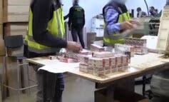 Encuentran en una nave de Alcalá de Henares 439.290 cajetillas de tabaco falsificado