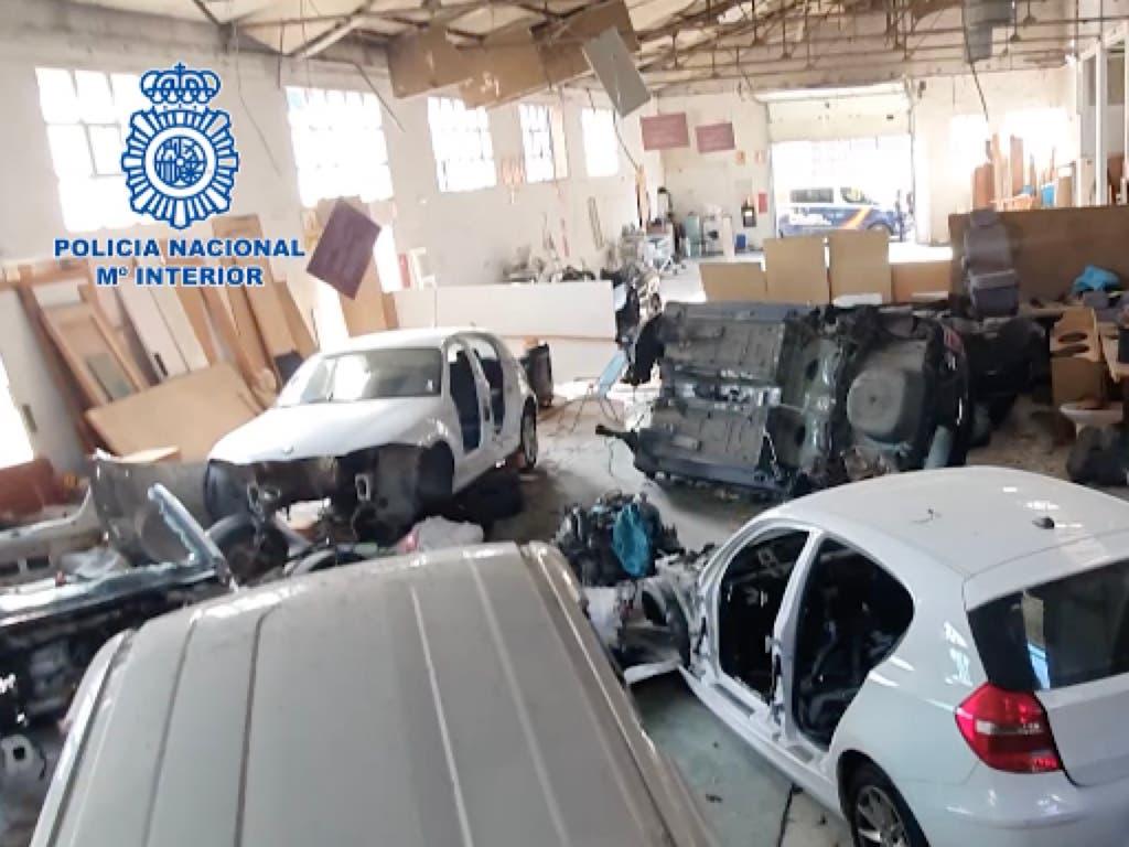 Desarticulado en Torrejón de Ardoz un grupo dedicado al despiece de vehículos robados