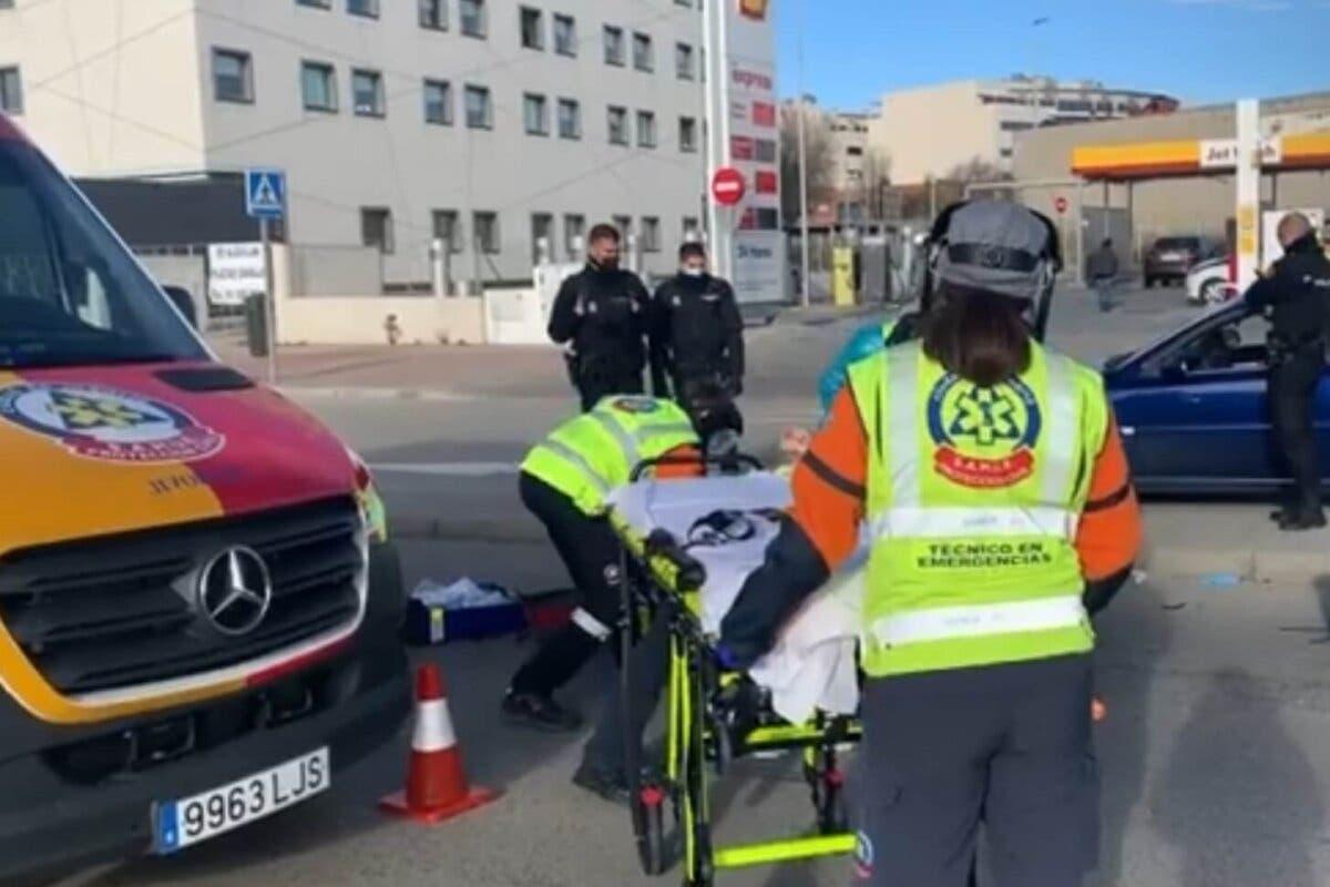 Herido grave tras caer de la moto en la Carretera de Villaverde a Vallecas