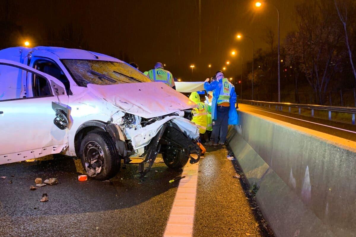 Un accidente en la M-30 deja un herido muy grave