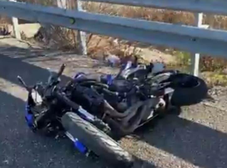 Muere un motorista de 25 años al impactar contra un guardarrail en Getafe