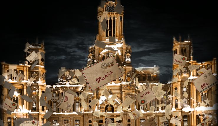 Madrid proyectará un videomapping interactivo navideñoen la fachada del Palacio de Cibeles