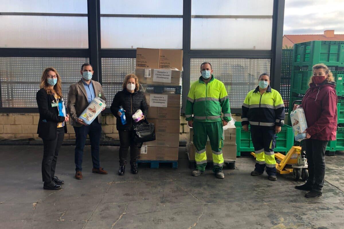 Mercadona dona 4.500 pañales y 700 kilos de productos infantiles en Alovera