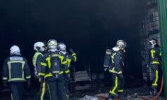 La nave incendiada en Alcalá de Henares almacenaba productos de limpieza