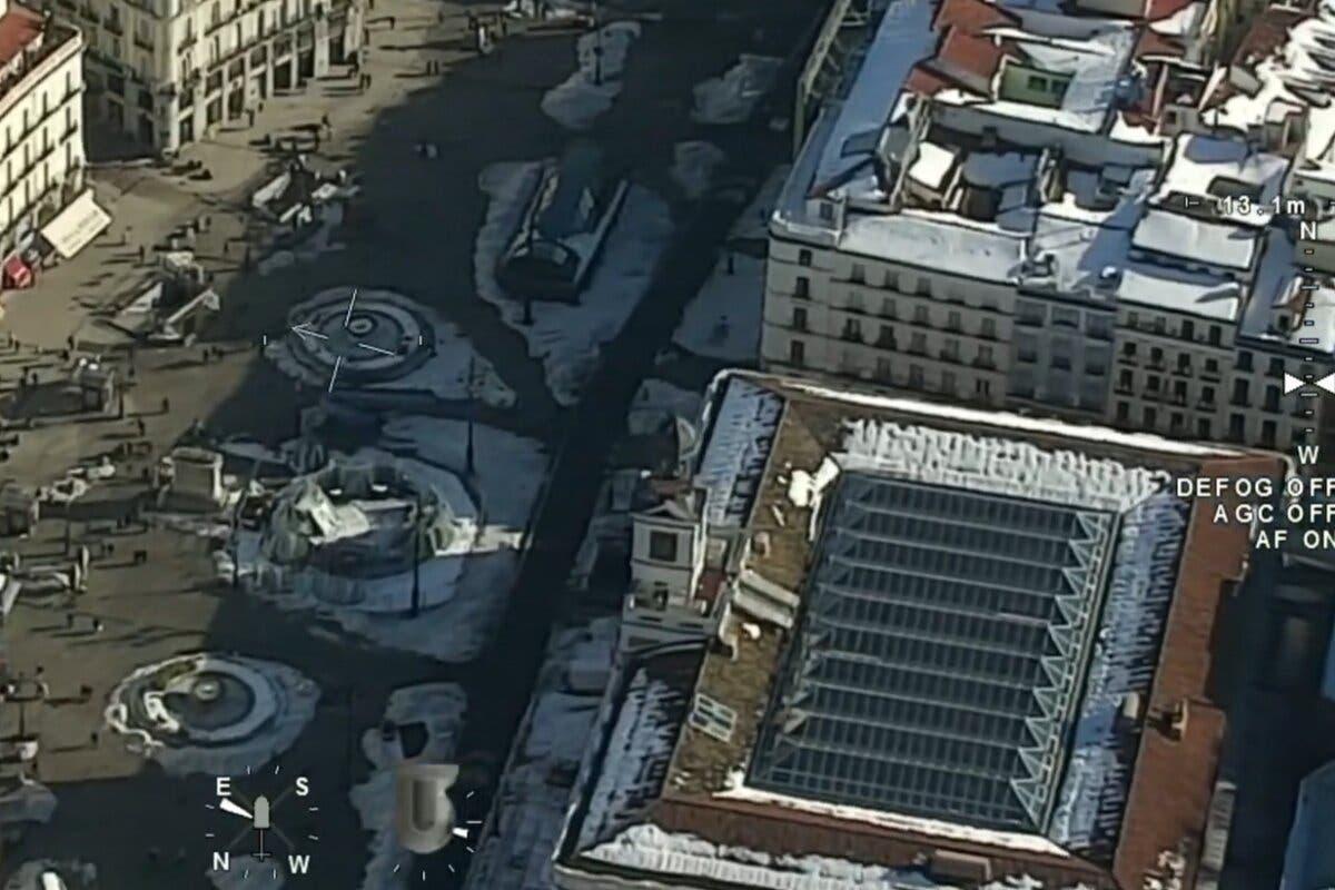 Así se ve Madrid desde el aire una semana después de la gran nevada