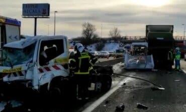 Dos heridos graves en un accidente en la A-2, Alcalá de Henares