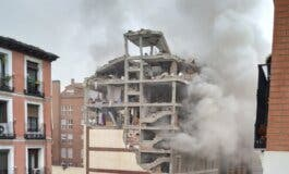 Una explosión destroza un edificio en Madrid y deja al menos dos muertos