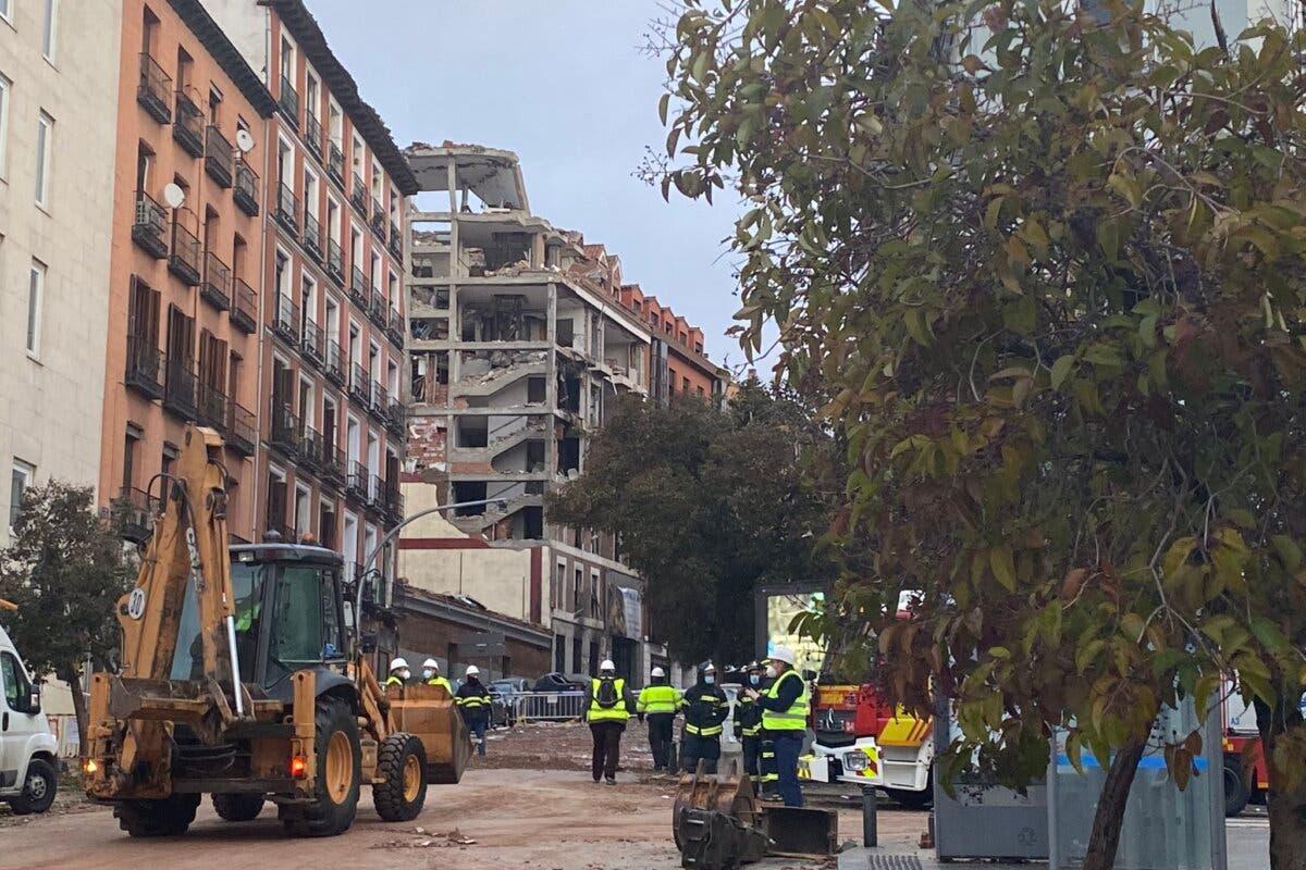 Ascienden a cuatro los muertos tras la explosión en un edificio de Madrid