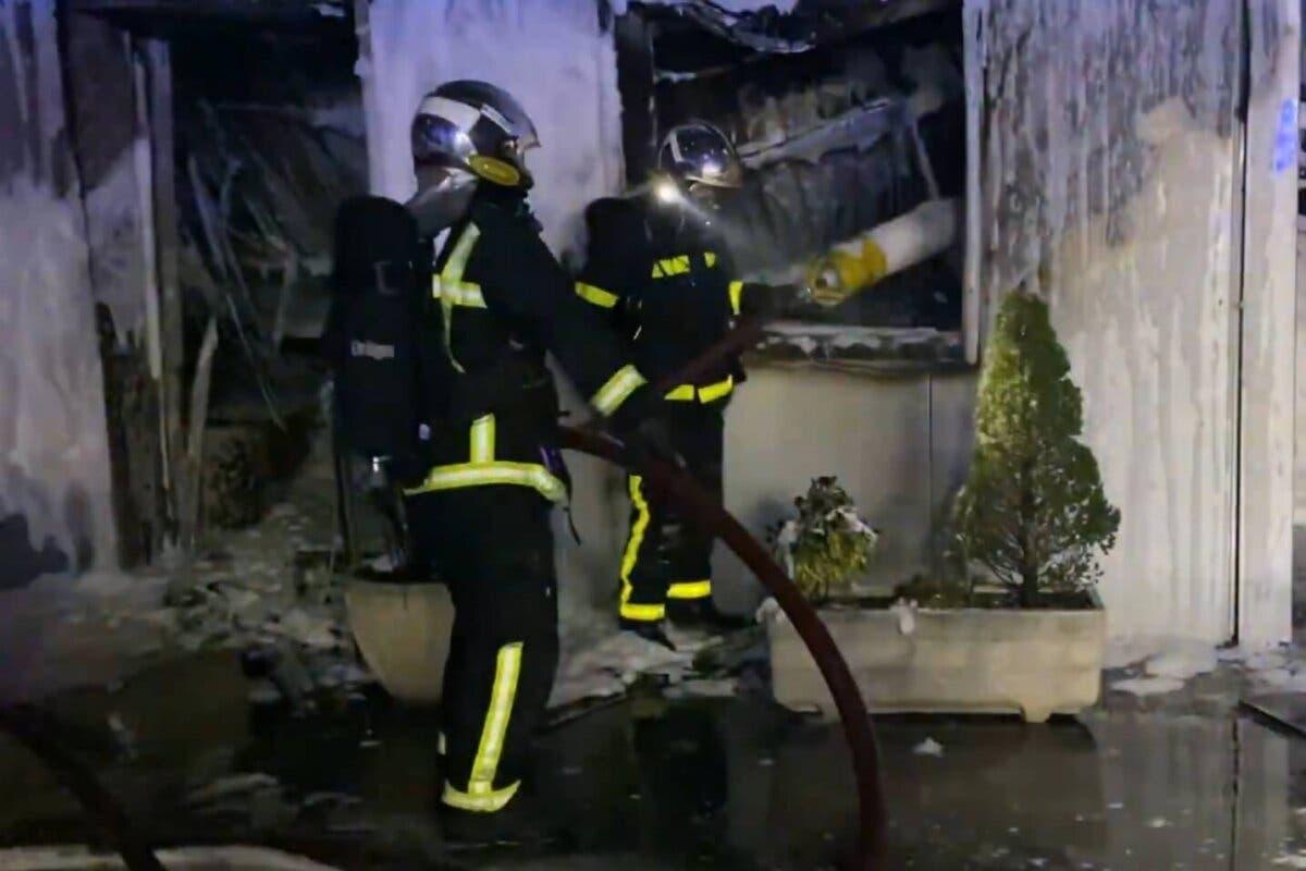 El incendio de Alcalá de Henares calcinó unas 10 autocaravanas