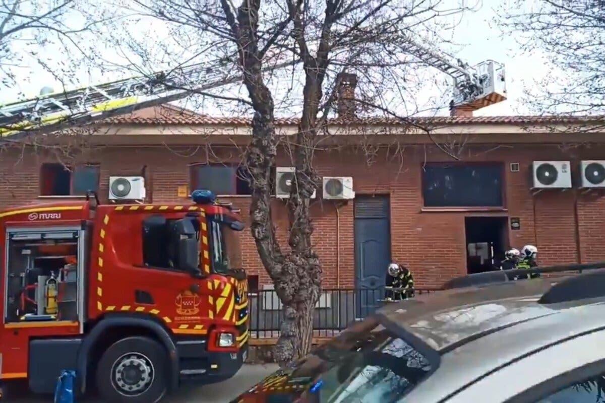 Sufre quemaduras en las manos tras un incendio en una churrería de Eurovillas