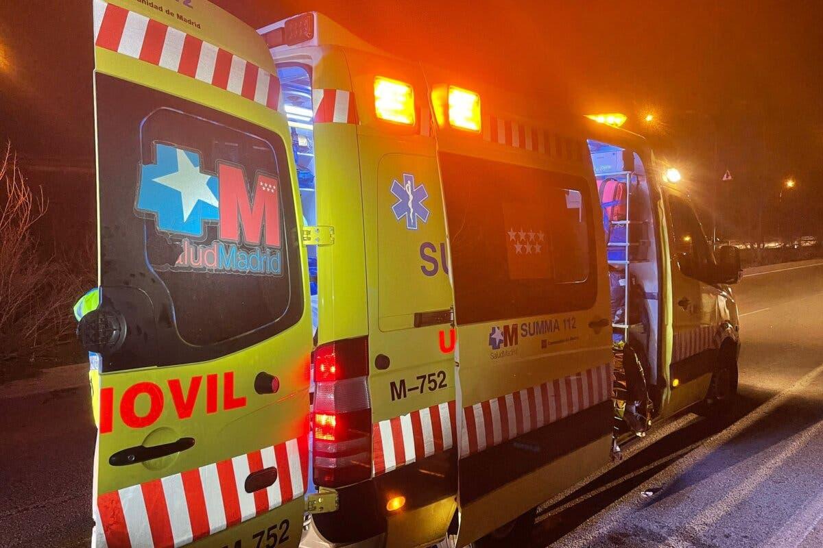Un muerto y cuatro heridos en dos accidentes ocurridos esta noche en la A-6 y San Sebastián de los Reyes