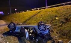 Muere un conductor de 57 años al volcar su vehículo en Soto del Real