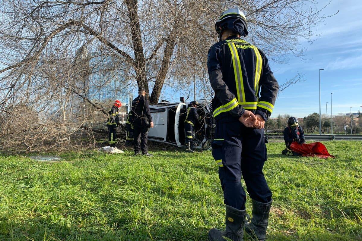 Siete personas heridas en un accidente en la M-14