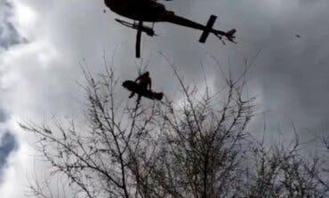 Rescatan en helicóptero a una joven ciclista herida en Alcalá de Henares