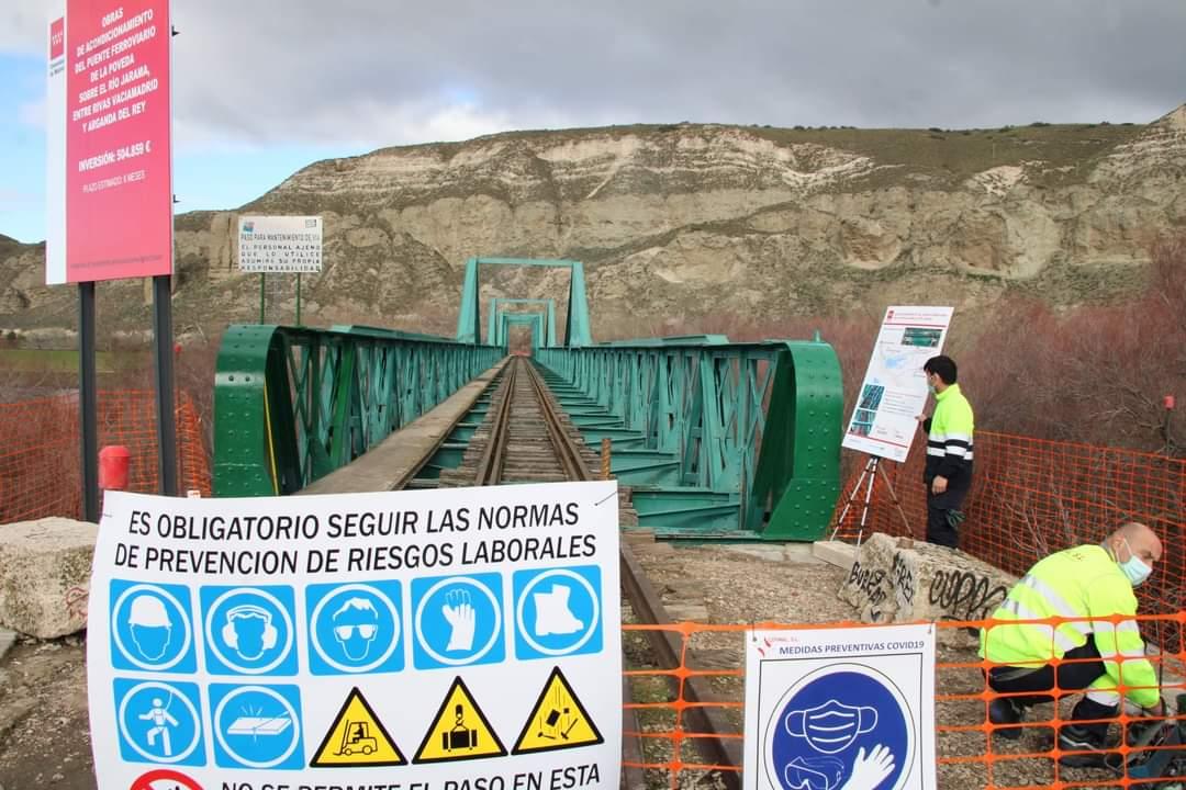 Comienza la rehabilitación del histórico puente ferroviario de La Poveda, entre Arganda y Rivas